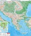Стенна карта: Природногеографска карта на Балканския полуостров - M 1:1 3 000 000 -