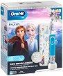 Oral-B Braun Vitality Kids D100 Disney Frozen 2 + Travel Case Gift Set - Детска електрическа четка за зъби и кутия за пътуване -