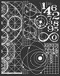 Шаблон - Астрономия - Размери 20 х 25 cm -