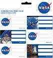Етикети за тетрадки - NASA - Комплект от 18 броя -