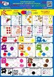 Мини табло: Цифри, фигури и цветове -