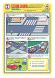 Тестови задачи по безопасност на движението по пътищата: Тестова карта за 1. клас - 2. срок - помагало