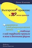 Българският правопис в 30 лесни правила - речник