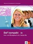 DaF kompakt: Учебна система по немски език : Ниво B1: Учебник и учебна тетрадка в едно + 2CD - Ilse Sander, Bigrit Braun, Margit Doubek, Ulrike Trebesius-Bensch, Rosanna Vitale, Nadja Fugert, Renate Kohl-Kuhn -