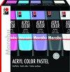 Акрилна боя - AcrylColor - Комплект от 5 цвята x 100 ml