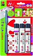 Контур за свещи - Сърца - Комплект от 3 цвята с шпакла и шаблон -