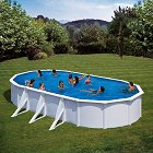 Овален сглобяем басейн - С твърда конструкция -