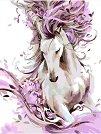 Рисуване по номера с акрилни бои - Красив кон - Комплект за картина с размери 35 x 45 cm -
