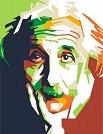Рисуване по номера с акрилни бои - Айнщайн - Комплект за картина с размери 35 x 45 cm -