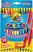 Двувърхи флумастери - Birello - Комплект от 12 цвята -