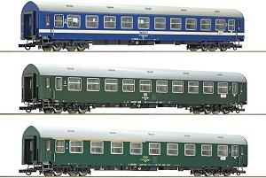Пътнически вагони от Meridian Express - ЖП модели - комплект от 3 броя -