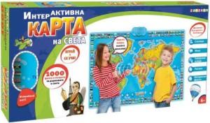 Интерактивна карта на света - Игра на български и английски език -