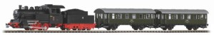 Пътнически влак с парен локомотив - PKP - Аналогов стартов комплект с релси -