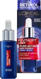 """L'Oreal Revitalift Laser Pure Retinol Deep Wrinkle Night Serum - Нощен серум против стареене с ретинол от серията """"Revitalift Laser"""" -"""