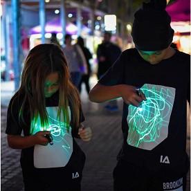 Детска светеща тениска - 100% памук -