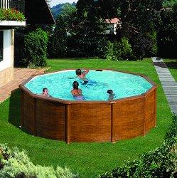 Кръгъл сглобяем басейн - С твърда конструкция - басейн