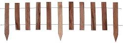 Ниска дървена градинска ограда - Модел 1315-H25L100 - 1 модул с дължина 100 cm