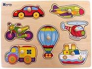 Транспортни средства - Детски дървен пъзел - пъзел