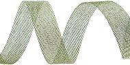 Тъкана хартиена панделка - грахово зелена