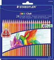 Цветни ергономични моливи - Noris Club 127 - Комплекти от 6, 12 и 24 цвята