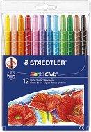 Восъчни пастели -Noris Club Twister 221 - Комплект от 12 цвята