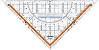 Триъгълник с транспортир