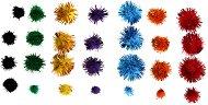 Цветни декоративни помпони с ламе - Комплект от 78 броя