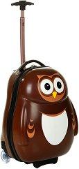 Детски куфар с колелца - Бухал - детски аксесоар