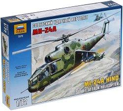 Съветски хеликоптер - MI-24A Hind - Сглобяем модел - макет