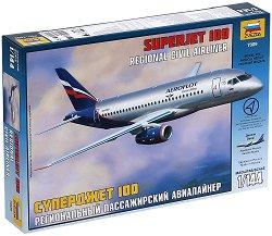 Пътнически самолет - Superjet 100 - Сглобяем авиомодел - макет