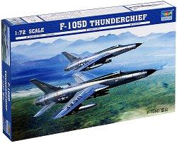 Американски свръхзвуков бомбардировач - F-105D Thunderchief - Сглобяем авиомодел - макет