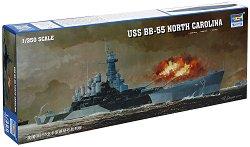 Военен кораб - USS North Carolina BB-55 - Сглобяем модел - макет