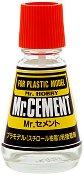Лепило за пластмасови модели и макети - Mr. Cement - Шишенце с четка от 23 ml - макет