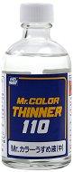 Разредител за акрилни бои на ацетонова основа - Mr. Color Thinner - Шишенце от 110 ml - продукт