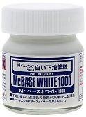 Грунд за пластмасови модели и макети - Mr. Base White 1000 - Бурканче от 40 ml - продукт
