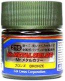 Акрилна боя на ацетонова основа - Mr. Metal Color: Метални цветове - Боичка за оцветяване на модели и макети - 10 ml - продукт