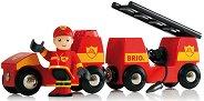 Детска противопожарна кола - Със светлинни и звукови ефекти -