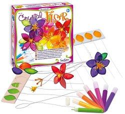 Създай сама - Цветя от цветно стъкло - Творчески комплект - детски аксесоар