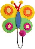 Детска дървена закачалка - Пеперуда - играчка