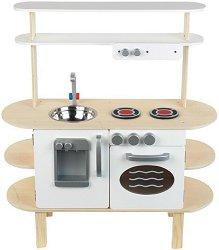 Детска дървена кухня с диспенсър за вода -