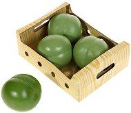 Плодове за игра - Зелена ябълка - Комплект от 4 броя - играчка