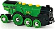 Голям зелен локомотив - Детска играчка -