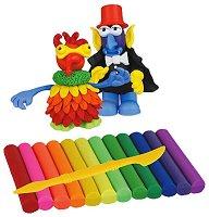 """Забавни фигури - Творчески комплект с пластилин от серията """"Fun Dough"""" - играчка"""