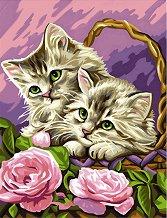 Нарисувай сам шедьовър - Котенца в кошница - Творчески комплект - детски аксесоар