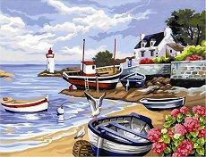 Нарисувай сам шедьовър - Рибарско селище - Творчески комплект - детски аксесоар