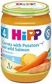 Пюре от сьомга, ранни моркови и картофи - Бурканче от 190 g за бебета над 4 месеца - продукт
