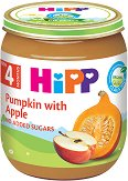 HiPP - Био пюре от тиква и ябълка - Бурканче от 125 g за бебета над 4 месеца - продукт