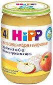HiPP - Био каша с ябълка, праскова и ориз - Бурканче от 190 g за бебета над 4 месеца - продукт