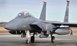 "Американски изтребител - USAF F-15E ""Seymour Johnson"" - Сглобяем авиомодел - макет"