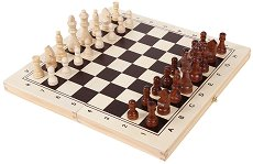 """Шах, дама и табла - Комплект дървени настолни игри от серията """"Smart"""" -"""